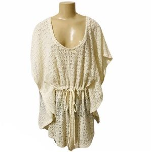 Eddie Bauer sheer lace beach bathing suit cover up